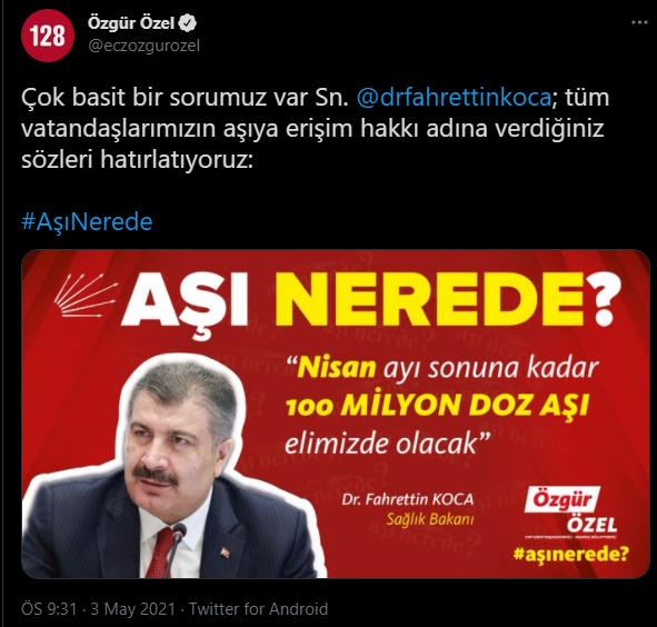 CHP'li Özgür Özel'den Bakan Koca'ya hatırlatma! 'Çok basit bir sorumuz var'